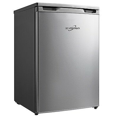 Statesman R155S 55cm Under Counter Fridge with 4* Ice Box Silver