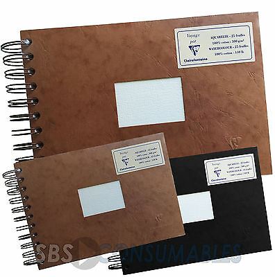 Clairefontaine Watercolour Album 25 Sheets 300gsm Textured Paper Spiral A4 or A5