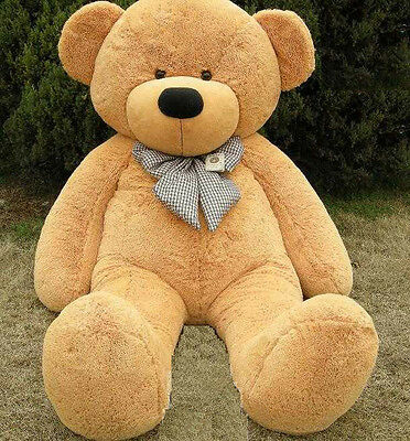 120cm Tall Giant Teddy Bear Stuffed Plush Doll Birthday Xmas Gift Light Brown