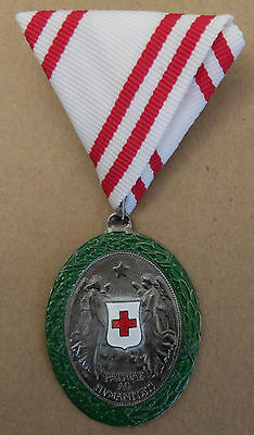 Austro-Hungarian Ww1 Silver Medal For Services To The Red Cross (War Decoration)