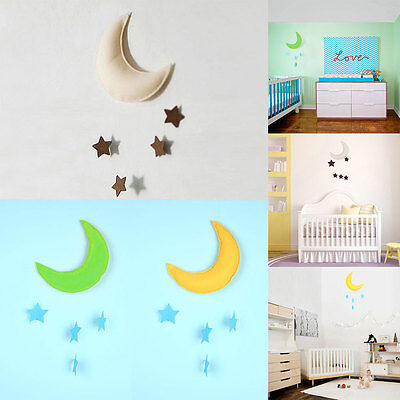 Cute Decoration Props Toy Moon&Star Baby Bed Hanging Decor Boy Girl Baby's Room