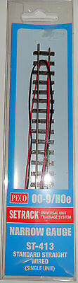 Peco  ST-413 standard straight Wired Narrow Gauge Track 009/HOe