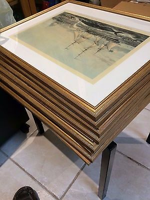 """8 framed prints of sailing ships, Nicely framed 15"""" x 20"""" with glass"""