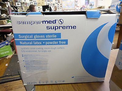 Sempermed Supreme Surgical Power Free Latex Gloves Size 7 1/2 Box of 47
