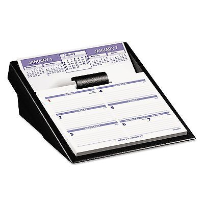 AT-A-GLANCE SW700X-00 Flip-A-Week Desk Calendar and Base  5 5/8 x 7  White  2017