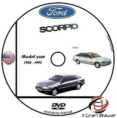 Manuale Officina Ford Scorpio My 1985 - 1992 Workshop Manual Service Cd Dvd