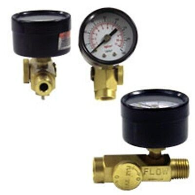 Mini Brass In-line Air Inline Pressure Regulator with Gauge