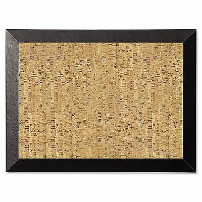 MasterVision SF0422581012 Natural Cork Bulletin Board  24x18  Cork/Black