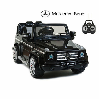 Licensed Mercedes G55 AMG 12v Electric Ride on Child Toy Jeep with Remote -Black