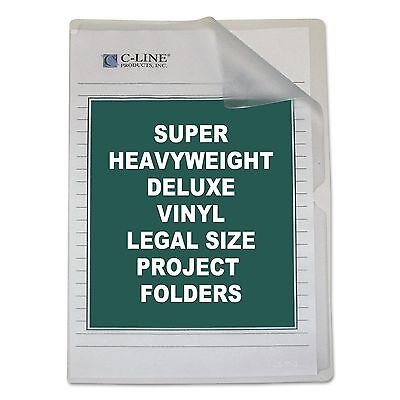 C-Line 62139 Deluxe Project Folders  Jacket  Legal  Vinyl  Clear  50/Box
