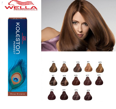 Wella Koleston Perfect Permanent Hair Color Dye - Deep Browns Range 60ml