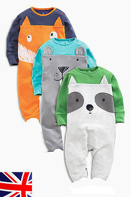 New Newborn Baby Rompers Outfits Bodysuit Jumpsuit Infant Clothes UK seller