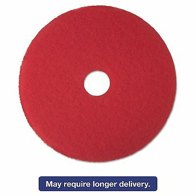 "3M 08392 Red Buffer Floor Pads 5100  Low-Speed  17""  5/Carton"