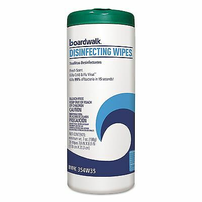 Boardwalk 354-W35 Disinfecting Wipes  8 x 7  Fresh Scent  35/Canister  12