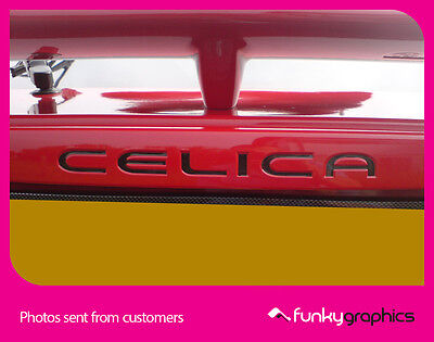 TOYOTA CELICA GEN 7 REAR INFILL STICKER, DECAL, GRAPHIC x1 (Choice of colours)