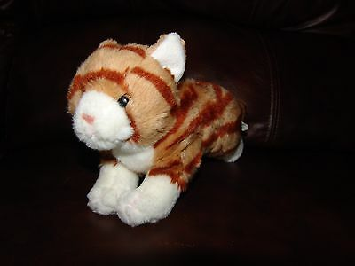 """Animal Alley Brown Striped Tabby Cat Plush Beanie Doll 11"""""""