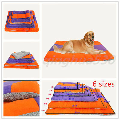 Extra Large Size Fleece Pet Warm House Dog Cat Puppy Bed Mat Pad Kennel Cushion