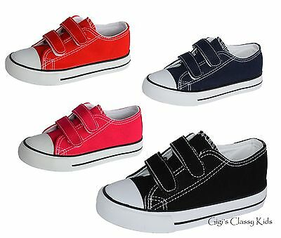 New Boys Girls Baby Toddler Canvas Tennis Shoes Sneakers Kids Skater Athletic