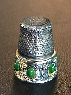 Vintage Sterling Silver Lotthammer Thimble - Germany RARE