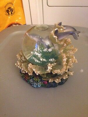Dolphin Wind Up Musical Water Globe