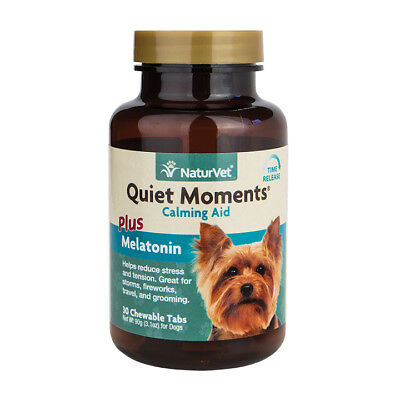 NaturVet QUIET MOMENTS CALMING AID DOG Stress Relief Chewable Tablet 30 Count