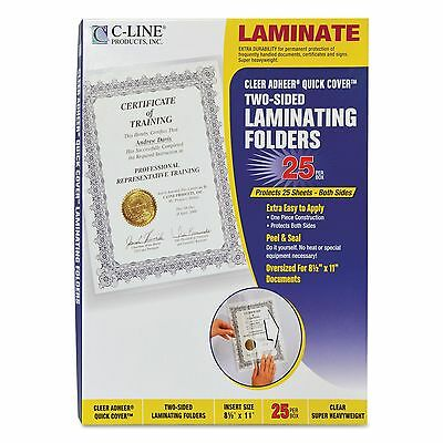 """C-Line 65187 Quick Cover Laminating Pockets  12 mil  9 1/8"""" x 11 1/2""""  25/Pack"""