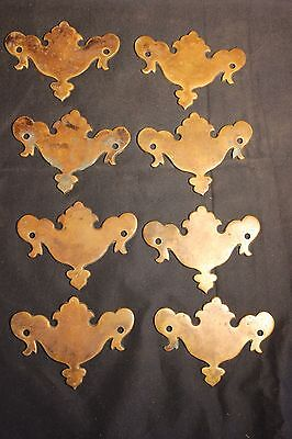 Antique 18th century Draw pulls Chippendale style original brown patina