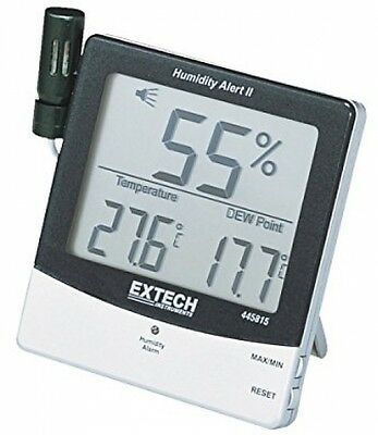 Humidity Meter with Alarm and Remote Probe, Mold rooms Basement Wood alert NEW