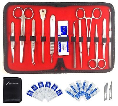 Deluxe Dissection Kit- PURE STAINLESS STEEL- 20 Pcs Lab Dissection