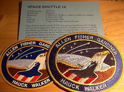 Missionsembleme Space Shuttle STS-51A (STS-14)
