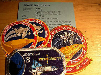 Missionsembleme Space Shuttle STS-51G  (STS-18)