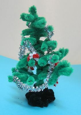 Vintage Chenille Christmas Tree Garland Candy Canes Pipe Cleaners Handmade  T13