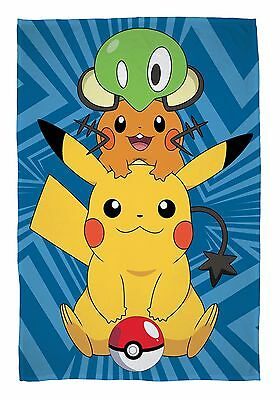 New Official Pokemon Go Catch Fleece Blanket Sofa Bed Throw Gift Bedroom Present