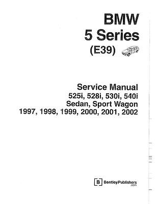 MANUALE OFFICINA BMW SERIE 5 E39 BENTLEY PUBLISHER MY 1997 -2002 WORKSHOP e-MAIL