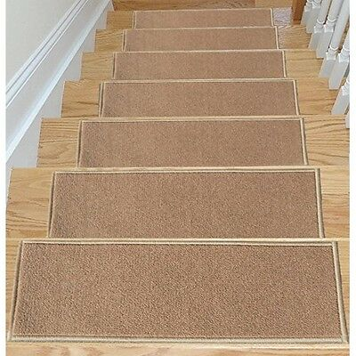 Carpet Stair Treads Non Slip Set Of 7 Step Safety Pads For Hardwood Stairs Skid