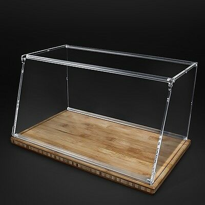 Large Clear Bread Box Wooden Kitchen Table Bagel Food Container Acrylic