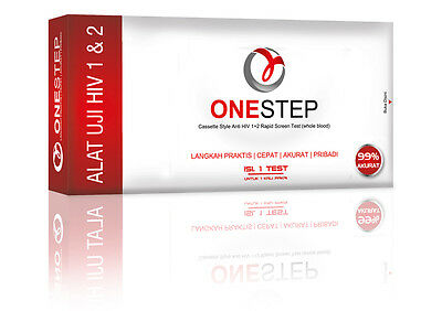 OneStep HIV Test Kit Cassette Style, Anti HIV 1+2 Rapid Screen Test 99% Accurate