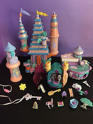 Vintage 90s Polly Pocket Trendmasters Starcastle Lot with ACCESSORIES