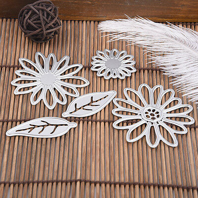 DIY Cutting Dies Stencil Scrapbook Album Paper Card Embossing Craft Flower Leaf