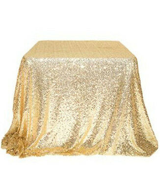 Hot Sale Sparkly 120*180cm Gold Sequin Tablecloth for Wedding/Event/Party