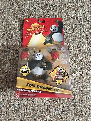VERY RARE Kung Fu Panda 2008 Star throwin po new in package hang tab worn
