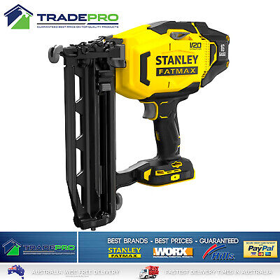 Stanley® Fatmax Nail Gun Cordless 18v 16 Gauge Li-ion Straight Finishing Nailer