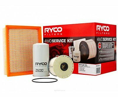 RYCO Oil Air Fuel Filter Service Kits Holden Colorado RC 3.0L 4JJ1 up to 2012
