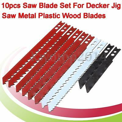 10Pcs JigSaw Blade Set For Black and Decker Jig Saw Metal Plastic Wood Blades
