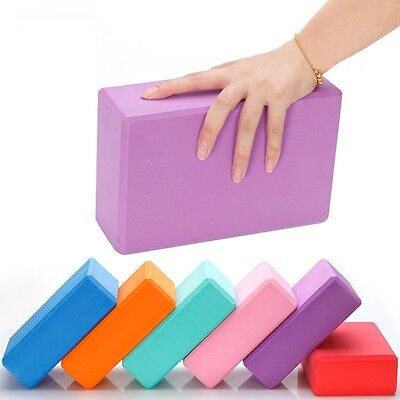 For  Fitness Sports Yoga Block Foam Brick Stretching Aid Pilates Exercise Tool