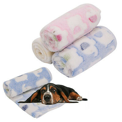 Soft Pet Blanket Dogs Puppy Kitten Cat Bed Pad Elephant Print Flannel Mat Warm