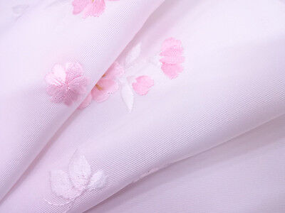 半襟 Han Eri - Double col pour juban - Blanc Sakura Papillons - Made in Japan 022