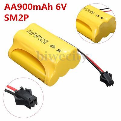 AA 6V 900mAh Ni-Cd Rechargeable Battery SM 2P Plug For RC Car Toy Solar LED