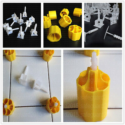 Tile Leveling System Caps and Base ( + / - ) Plastic Flooring Spacers Tool Kits