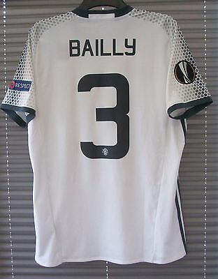 New Genuine Manchester United 2016/17 Europa League 3rd Away Shirt BAILLY 3 L